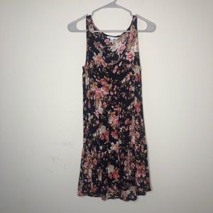 American eagle outfitters dress floral size M navy